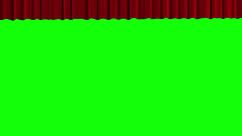 Red theater curtain rise and fall, Stock Animation
