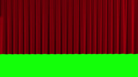 Red theater curtain rise and fall Animation