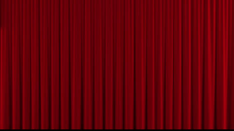 Red theater curtain down/close Stock Video Footage