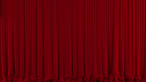 Red theater curtain down/close Animation
