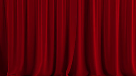 Red theater curtain open Animation
