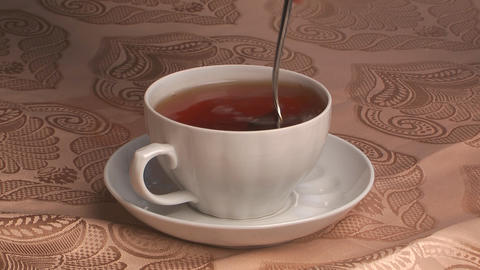 Cup With Tea stock footage