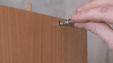 Furniture assembly Stock Video Footage
