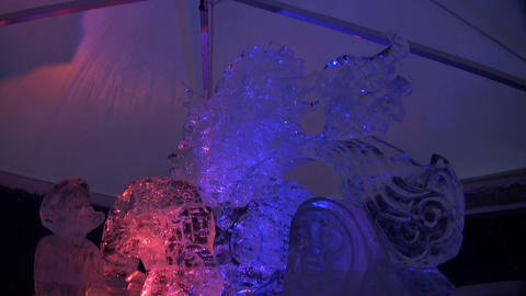 Ice Sculpture stock footage