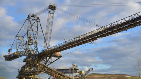 giant strip mining excavator time lapse 11282 Footage