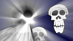 Skulls with volumetric light effect Animation