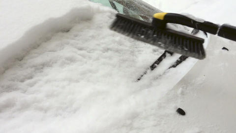 Sweeping the snow Live Action