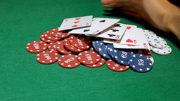 Poker chips grabbed by player viewer Footage