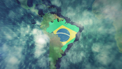 Brazil States Map stock footage