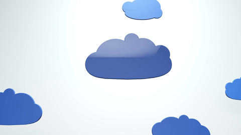 4K Cartoony Clouds 2 Animation