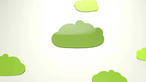 4K Cartoony Clouds 4 Animation