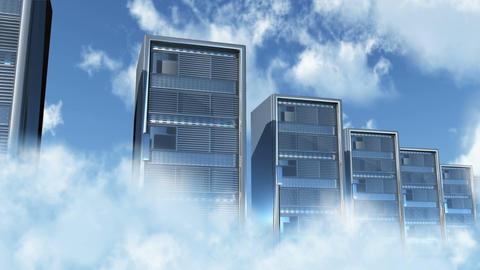 4K Cloud Servers 3 Animation