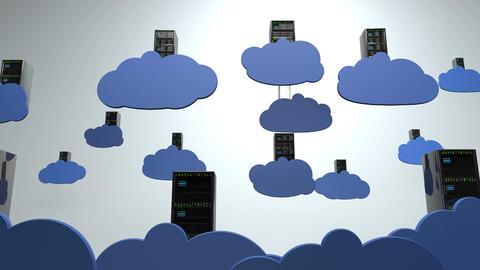 4K Cloud Servers 5 Animation