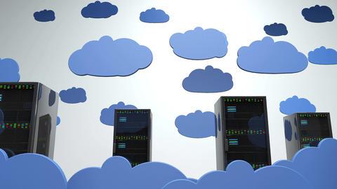4K Cloud Servers 7 Animation
