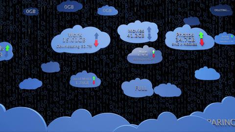 4K Cloud Servers 13 Animation