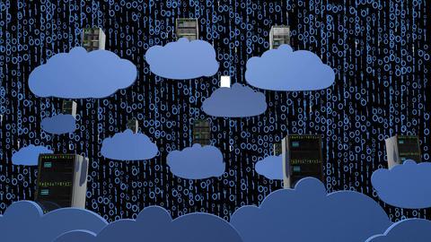 4K Cloud Servers 17 Animation