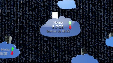 4K Cloud Servers 25 Animation
