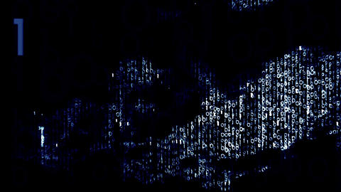 Binary Fast Processing Digital Concept 3 Animation