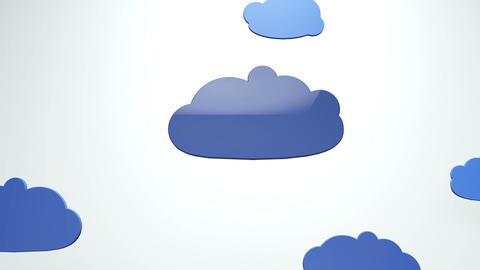 Cartoony Clouds 2 Animation
