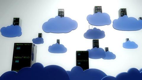 Cloud Servers 8 Stock Video Footage