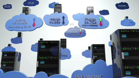 Cloud Servers 22 with Matte Animation