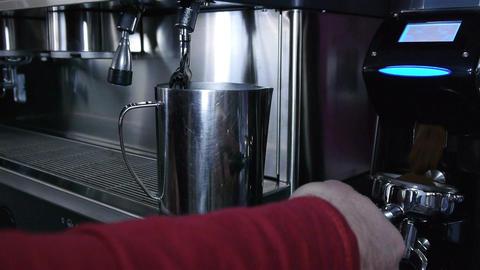 Preparation of espresso coffee Footage