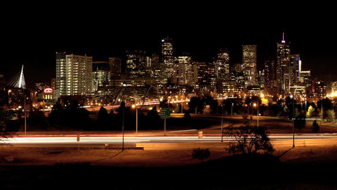 Denver Night Time Lapse stock footage