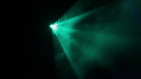 Rotating Turquoise Light Footage