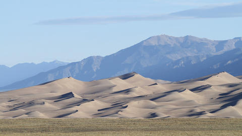 Sunrise At The Great Sand Dunes stock footage