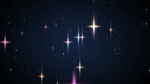 Loopable Shining Star Glitter HD stock footage