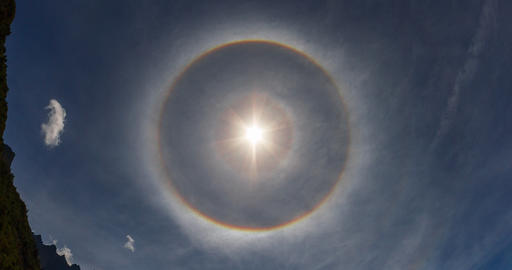 Epic 4k phenomenon, 22 degree halo, 360 degree rai Live Action