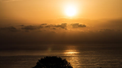 4k sunrise over the ocean, Sardinia Filmmaterial