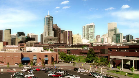 Denver Skyline from Auraria Campus Footage