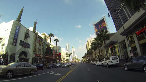 HOLLYWOOD, CA, CIRCA 2014: Driving Along Hollywood stock footage