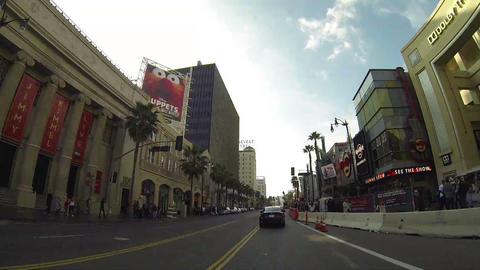 HOLLYWOOD, CA, CIRCA 2014: Driving along Hollywood Footage