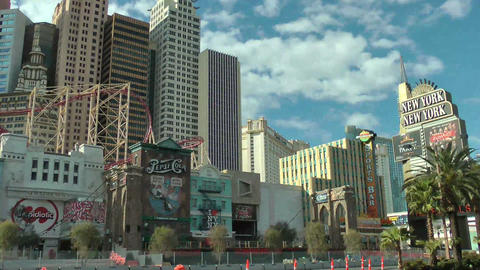 LAS VEGAS, CIRCA 2014: New York New York Hotel in  Footage