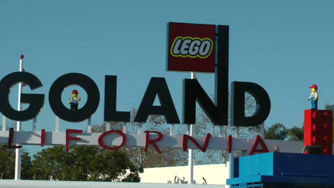 Legoland California, CIRCA 2014 Is A Theme Park Lo stock footage