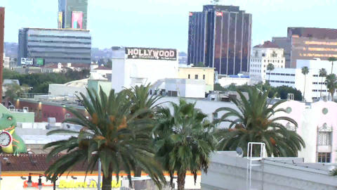 LOS ANGELES - CIRCA 2014: Day Cityscape Hollywood  Footage