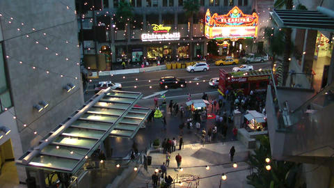 LOS ANGELES, CIRCA 2014: Tourists Walk On Hollywoo stock footage