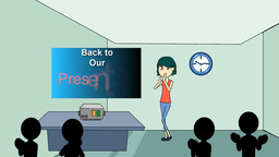 """Back To Our Presentation"", Animation + Looping stock footage"
