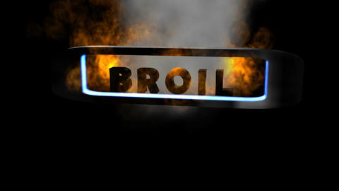 """Fiery Letters, """"Broil"""" (Looping) Animation"""