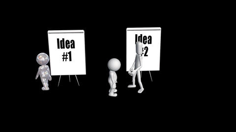 Competing Ideas Need a Compromise, Stock Animation