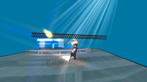 Blond Bombshell, Undulating In Video Dance Studio stock footage