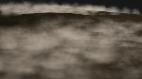 Desert Sandstorm At Night (Animated + Looping) stock footage