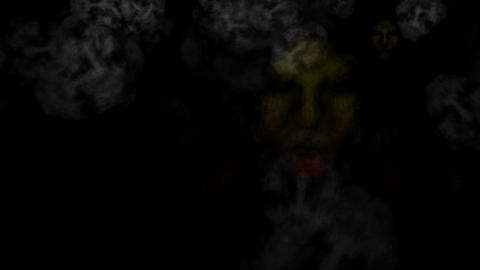 Ghostly Creatures and Fog Faces: Looping Animation
