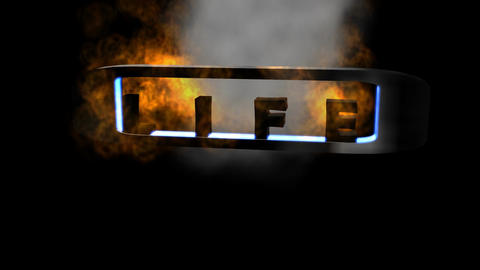 "Fiery Letters: ""Life"" (Looping) Animation"
