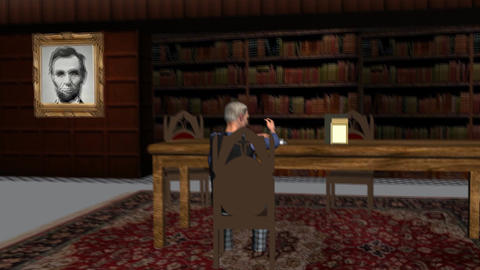 Lincoln Come Alive in the Library Animation