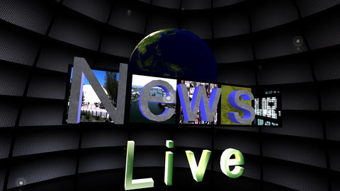 """News Live"" News Promo Stock Video Footage"