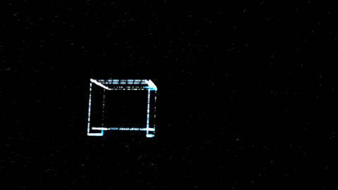Tumbling Plasma Space Square Animation