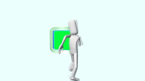 Run and Leap into Green Screen Videos animados